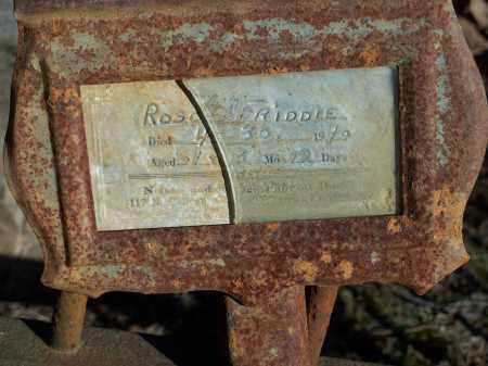 FRIDDLE, ROSC(??) - Crawford County, Arkansas | ROSC(??) FRIDDLE - Arkansas Gravestone Photos
