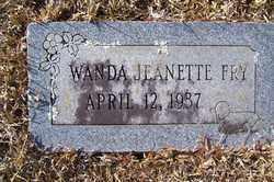 FRY, WANDA - Crawford County, Arkansas | WANDA FRY - Arkansas Gravestone Photos