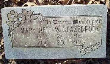 GLAZEBROOK, MARY NELL W. - Crawford County, Arkansas | MARY NELL W. GLAZEBROOK - Arkansas Gravestone Photos