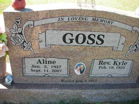 GOSS, ALINE - Crawford County, Arkansas   ALINE GOSS - Arkansas Gravestone Photos