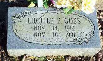 GOSS, LUCILLE E. - Crawford County, Arkansas | LUCILLE E. GOSS - Arkansas Gravestone Photos