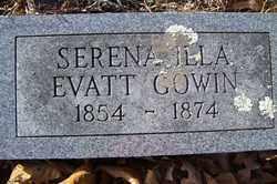 GOWIN, SERENA ILLA - Crawford County, Arkansas | SERENA ILLA GOWIN - Arkansas Gravestone Photos