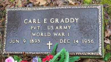 GRADDY (VETERAN WWI), CARL E - Crawford County, Arkansas | CARL E GRADDY (VETERAN WWI) - Arkansas Gravestone Photos