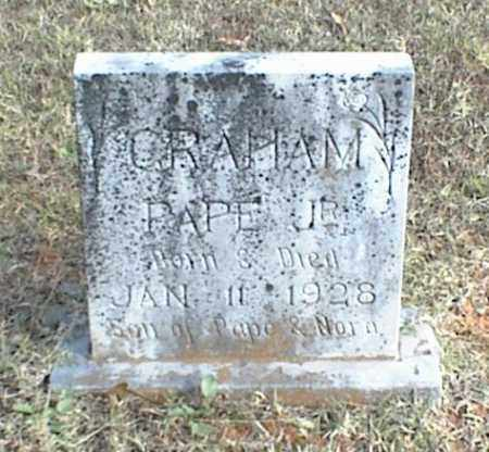 GRAHAM JR., PAPE - Crawford County, Arkansas | PAPE GRAHAM JR. - Arkansas Gravestone Photos
