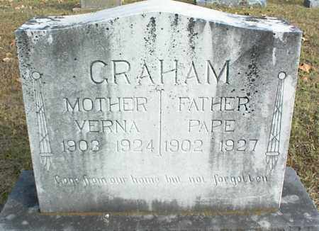 GRAHAM, VERNA - Crawford County, Arkansas | VERNA GRAHAM - Arkansas Gravestone Photos