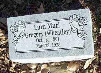GREGORY, LURA MURL - Crawford County, Arkansas | LURA MURL GREGORY - Arkansas Gravestone Photos