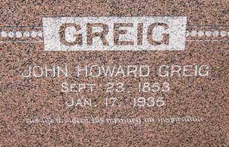 GREIG, JOHN HOWARD - Crawford County, Arkansas   JOHN HOWARD GREIG - Arkansas Gravestone Photos