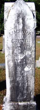 MORTON GREIG, LUCINDA - Crawford County, Arkansas   LUCINDA MORTON GREIG - Arkansas Gravestone Photos