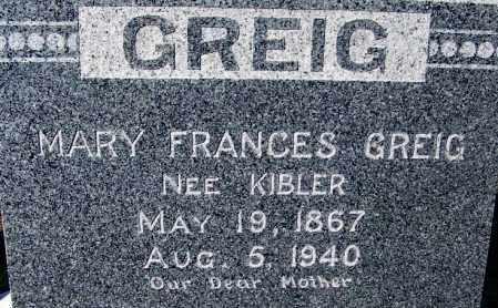 GREIG, MARY FRANCES - Crawford County, Arkansas | MARY FRANCES GREIG - Arkansas Gravestone Photos