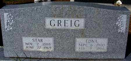 GREIG, STAR - Crawford County, Arkansas   STAR GREIG - Arkansas Gravestone Photos