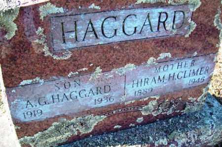 CLIMER HAGGARD, HIRAM H. - Crawford County, Arkansas | HIRAM H. CLIMER HAGGARD - Arkansas Gravestone Photos