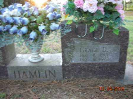 HAMLIN, GRACE D. - Crawford County, Arkansas | GRACE D. HAMLIN - Arkansas Gravestone Photos