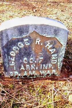 HAND (VETERAN SAW), GEORGE R - Crawford County, Arkansas   GEORGE R HAND (VETERAN SAW) - Arkansas Gravestone Photos