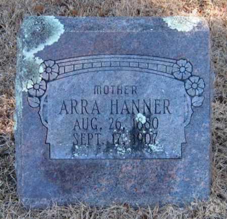 HANNER, ARRA - Crawford County, Arkansas   ARRA HANNER - Arkansas Gravestone Photos