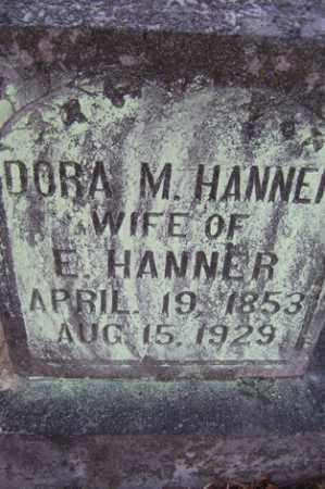 MCMASTER HANNER, DORA M - Crawford County, Arkansas | DORA M MCMASTER HANNER - Arkansas Gravestone Photos