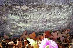 HANNER, THOMAS A - Crawford County, Arkansas | THOMAS A HANNER - Arkansas Gravestone Photos