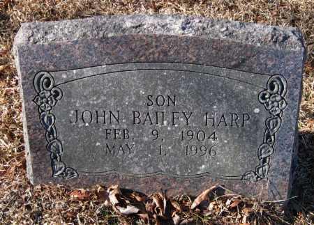 HARP, JOHN BAILEY - Crawford County, Arkansas | JOHN BAILEY HARP - Arkansas Gravestone Photos