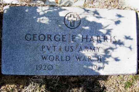 HARRIS (VETERAN WWII), GEORGE E - Crawford County, Arkansas   GEORGE E HARRIS (VETERAN WWII) - Arkansas Gravestone Photos