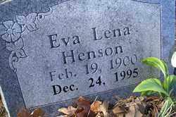 HENSON, EVA LENA - Crawford County, Arkansas | EVA LENA HENSON - Arkansas Gravestone Photos