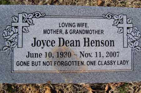 DEAN HENSON, JOYCE - Crawford County, Arkansas | JOYCE DEAN HENSON - Arkansas Gravestone Photos