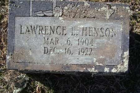 HENSON, LAWRENCE E. - Crawford County, Arkansas | LAWRENCE E. HENSON - Arkansas Gravestone Photos