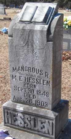 HESSLEN, MANGROUS R - Crawford County, Arkansas | MANGROUS R HESSLEN - Arkansas Gravestone Photos