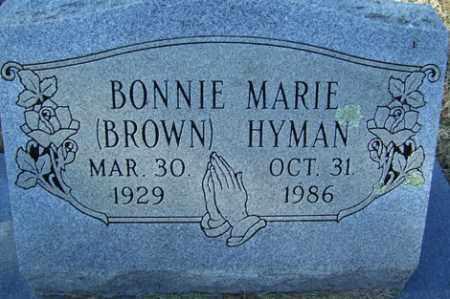 BROWN HYMAN, BONNIE MARIE - Crawford County, Arkansas | BONNIE MARIE BROWN HYMAN - Arkansas Gravestone Photos