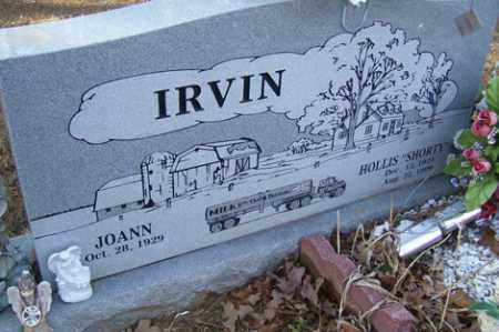 "IRVIN, HOLLIS ""SHORTY"" - Crawford County, Arkansas   HOLLIS ""SHORTY"" IRVIN - Arkansas Gravestone Photos"