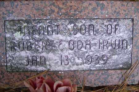IRVIN, INFANT SON - Crawford County, Arkansas   INFANT SON IRVIN - Arkansas Gravestone Photos