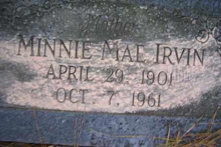IRVIN, MINNIE MAE - Crawford County, Arkansas   MINNIE MAE IRVIN - Arkansas Gravestone Photos