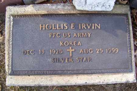 IRVIN (VETERAN KOR), HOLLIS E - Crawford County, Arkansas | HOLLIS E IRVIN (VETERAN KOR) - Arkansas Gravestone Photos