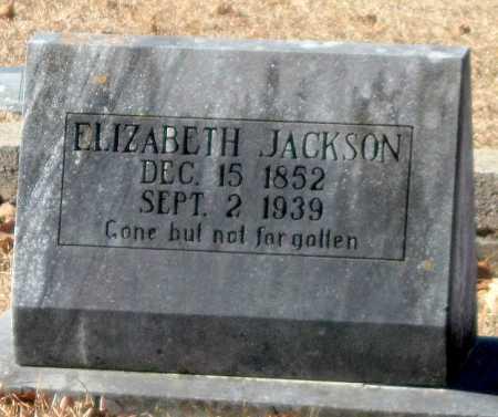 WILSON JACKSON, ELIZABETH - Crawford County, Arkansas | ELIZABETH WILSON JACKSON - Arkansas Gravestone Photos