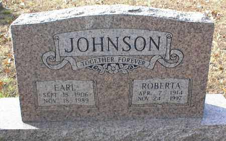 JOHNSON, EARL - Crawford County, Arkansas | EARL JOHNSON - Arkansas Gravestone Photos