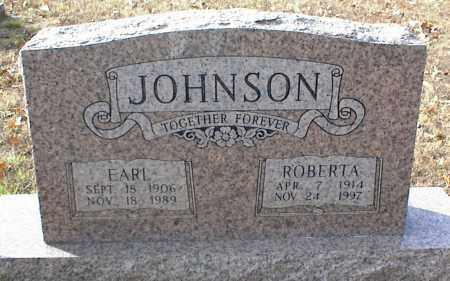 JOHNSON, EARL - Crawford County, Arkansas   EARL JOHNSON - Arkansas Gravestone Photos