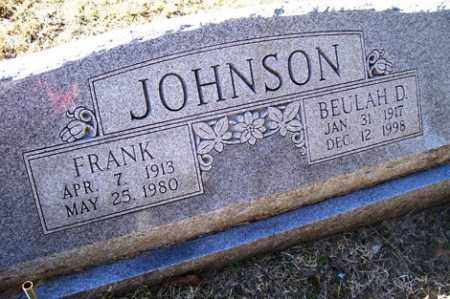 JOHNSON, BEULAH D - Crawford County, Arkansas | BEULAH D JOHNSON - Arkansas Gravestone Photos