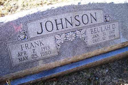 JOHNSON, FRANK - Crawford County, Arkansas | FRANK JOHNSON - Arkansas Gravestone Photos