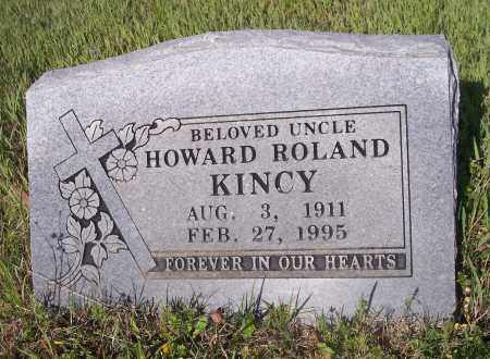 KINCY, HOWARD ROLAND - Crawford County, Arkansas | HOWARD ROLAND KINCY - Arkansas Gravestone Photos