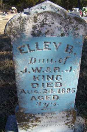KING, ELLEY B - Crawford County, Arkansas | ELLEY B KING - Arkansas Gravestone Photos