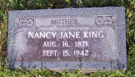 KING, NANCY JANE - Crawford County, Arkansas | NANCY JANE KING - Arkansas Gravestone Photos