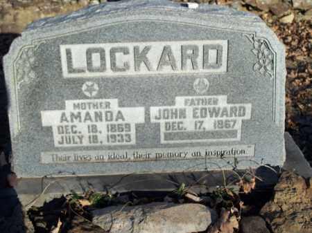 LOCKARD, JOHN EDWARD - Crawford County, Arkansas | JOHN EDWARD LOCKARD - Arkansas Gravestone Photos