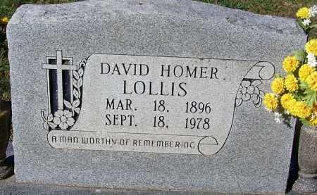 LOLLIS, DAVID HOMER - Crawford County, Arkansas | DAVID HOMER LOLLIS - Arkansas Gravestone Photos