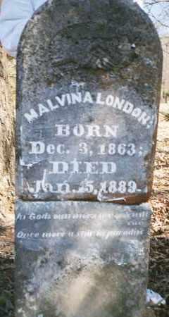 MORRIS LONDON, MALVINA - Crawford County, Arkansas | MALVINA MORRIS LONDON - Arkansas Gravestone Photos