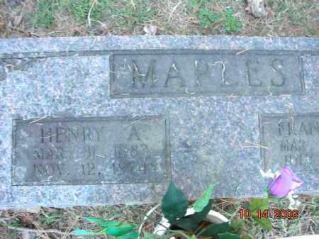 MAPLES, HENRY APPLETON - Crawford County, Arkansas   HENRY APPLETON MAPLES - Arkansas Gravestone Photos