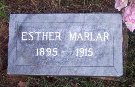 MARLAR, ESTHER - Crawford County, Arkansas | ESTHER MARLAR - Arkansas Gravestone Photos