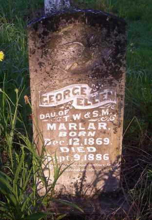 MARLAR, GEORGE ELLEN - Crawford County, Arkansas | GEORGE ELLEN MARLAR - Arkansas Gravestone Photos