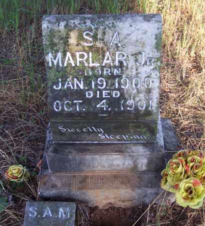 MARLAR , JR, S. A. - Crawford County, Arkansas   S. A. MARLAR , JR - Arkansas Gravestone Photos