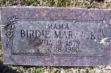 MARWICK, BIRDIE - Crawford County, Arkansas   BIRDIE MARWICK - Arkansas Gravestone Photos