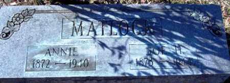 MATLOCK, JOE H - Crawford County, Arkansas   JOE H MATLOCK - Arkansas Gravestone Photos