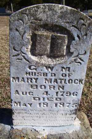 MATLOCK, G  W  M - Crawford County, Arkansas | G  W  M MATLOCK - Arkansas Gravestone Photos