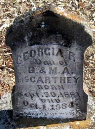 MCCARTHEY, GEORGIA R. - Crawford County, Arkansas | GEORGIA R. MCCARTHEY - Arkansas Gravestone Photos